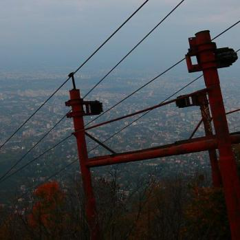 View from the top of Vitosha mountain.