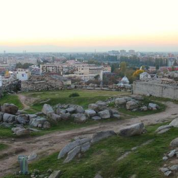 View from the top of Nebet, other direction. Evidence has been found that the site was settled as early as C12th BC as the Thracian town Evmolpiya.