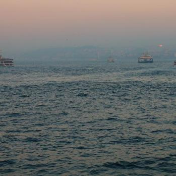Bosphorus at dusk.
