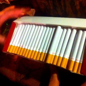 An extortionate €3 pack of cigarettes.