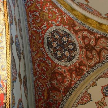 Dazzling designs inside the Topkapi Palace, built in 1465 and home to several Ottoman sultans.