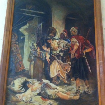 As well as pics of bosomy women being slain in battle.