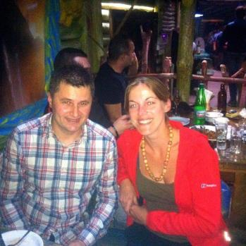 My new Serb friend, who I join for his 36th birthday in Vranje, Serbia. 'Nobody laughs enough here,' he tells me.