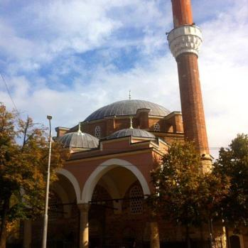 The Banya Bashi Mosque, completed in 1576. Currently, the only functioning mosque in Sofia. It was built over natural thermal spas, and its name means 'many baths'.