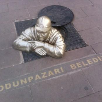 Miner sculture in Eskisehir.