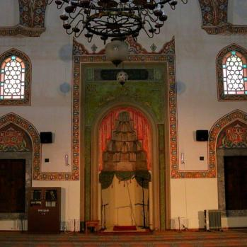 Interior of the pretty Kursunlu Mosque in Eskisehir, built in 1525.