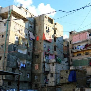 Bourj-el-Barajneh camps for Palestinians, also in Beirut. Approx. 30,000 residents live here, in extremely cramped conditions.