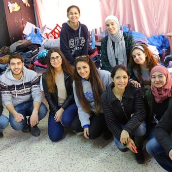 Volunteers from IFMSA.