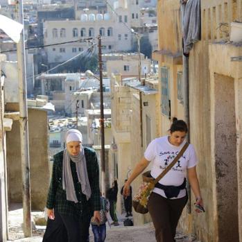 Many of the volunteers are Palestinians themselves, though several have Jordanian citizenship. In fact, a hefty proportion of Jordanians have Palestinian origins.