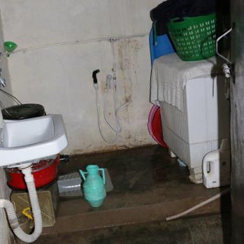 Eileen's bathroom, for a family of nine.