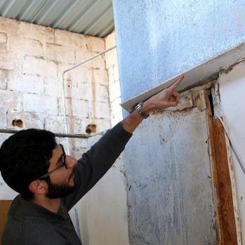 Asbestos is everywhere, but IFMSA has started to replace all the old roofs with new tin ones.