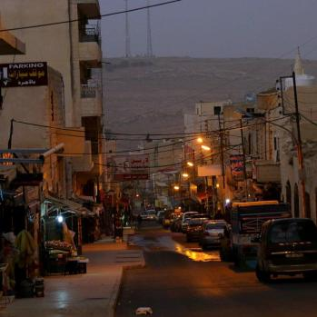 Arrive in Kerak in the dark. All the hotels seem to be closed, and it's freezing cold. What to do?