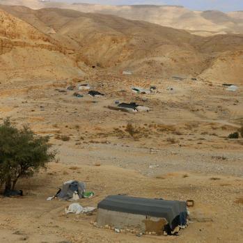 Bedouin tents.
