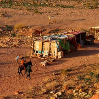 Local Bedouin, who give tours around Petra. I avoid them as don't have more cash to splash.