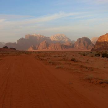 Take a tour of Wadi Rum with a group of visitors I meet at the camp. Barren and beautiful.