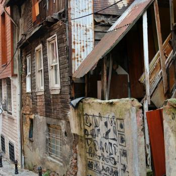 Beautiful, crumbling Istanbul backstreets.