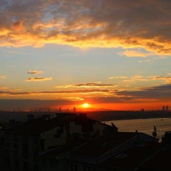 Bosphorus sunset.