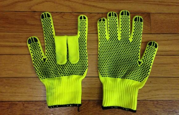 Cheap Hi-Viz Cycling Gloves
