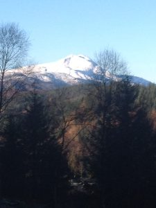Ben Lomond is often peaked with snow - a must do during summer!