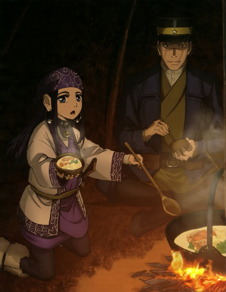 Golden Kamuy Main Cast Camping