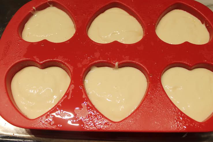 Pour cheesecake mixture into your molds and place mold into a roasting pan