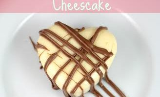 Good Old Fashion Valentine's Day Heart Shaped Cheesecake