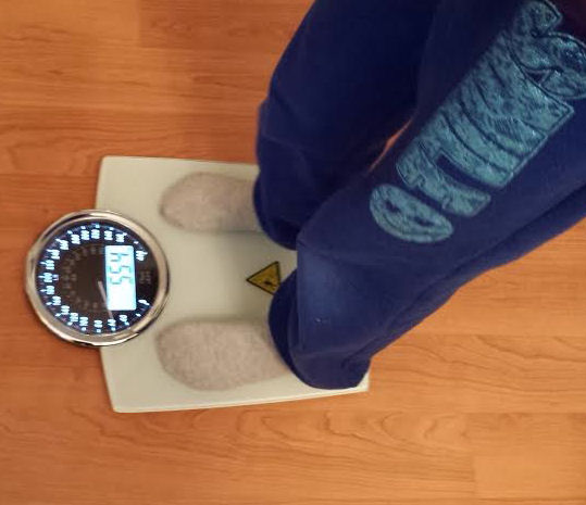 step on the scale