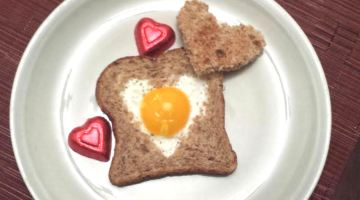 Valentine Egg in a Toast
