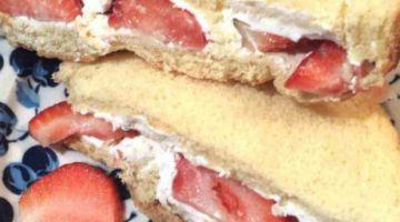 Easy Strawberry Cream Cheese Sandwitch