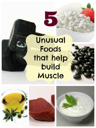 five foods that help build muscle