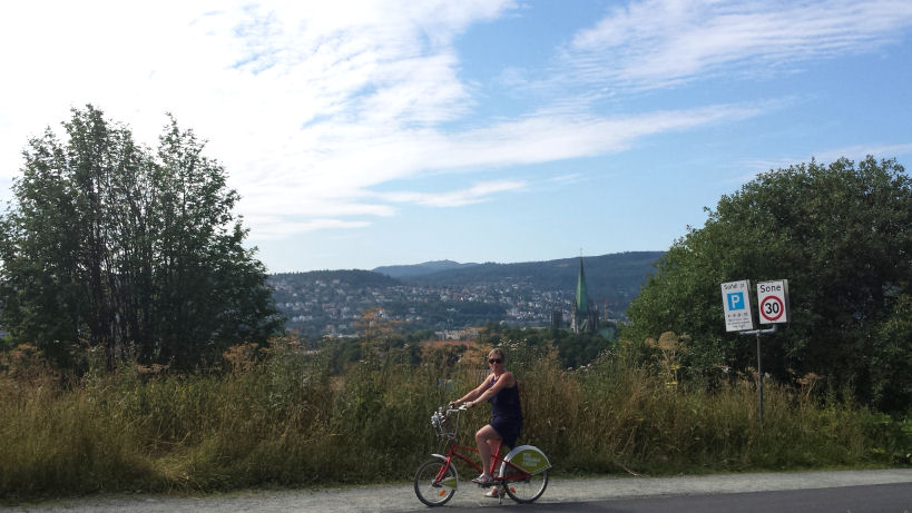 I rented a bike in Trondheim too :)