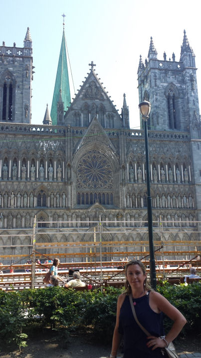 in front of Nidaros Cathedral