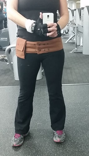 hip hugger at the gym