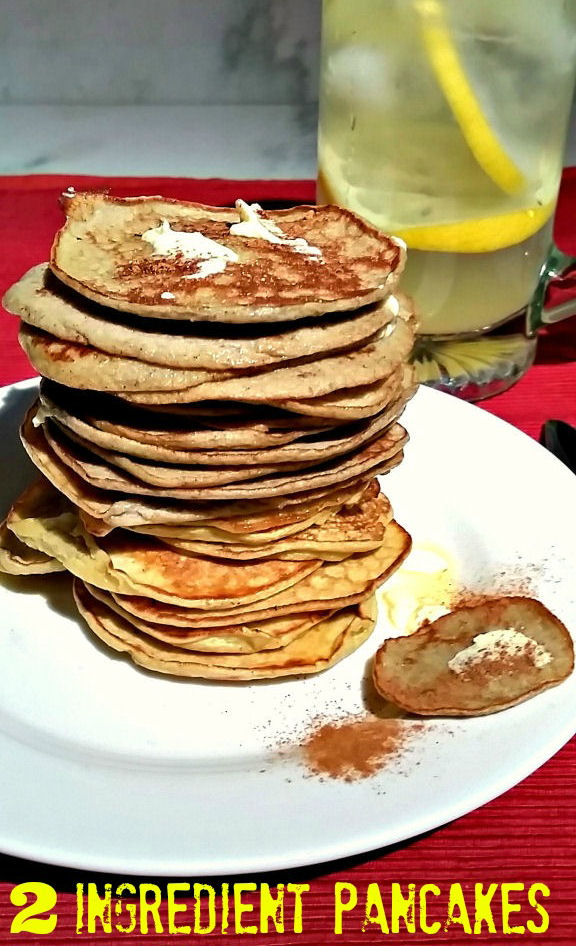 The best 2 ingredient healthy pancakes on the planet