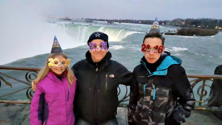 happy new year from niagara falls