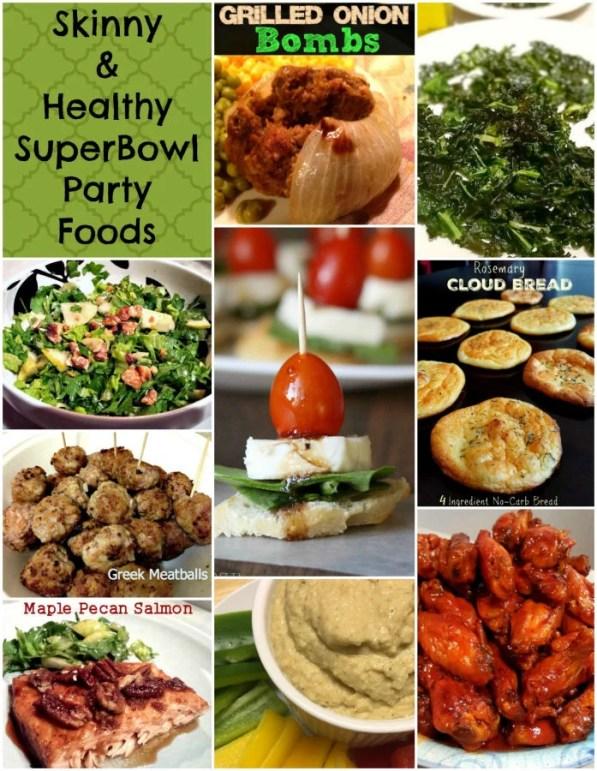 skinny healthy superbowl party foods