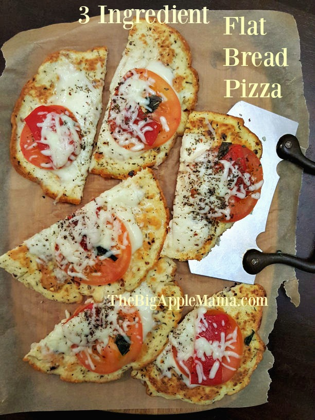 3 Ingredient Low-Carb Flat Bread Pizza