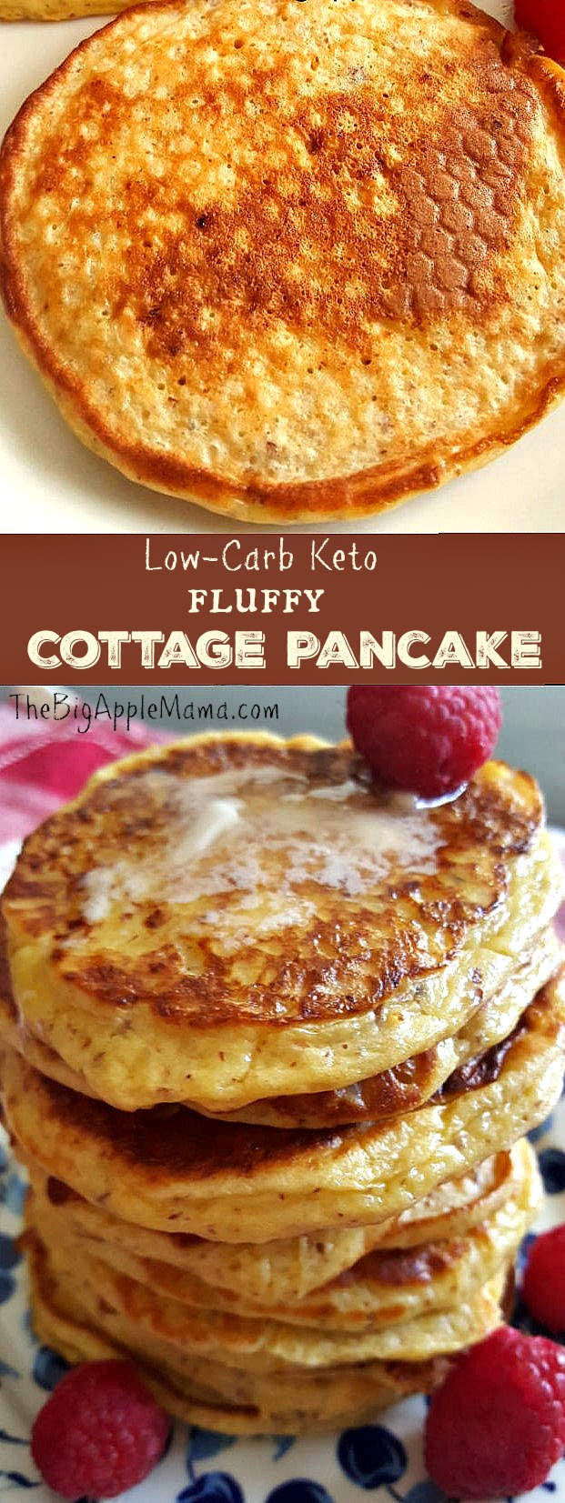 Low-Carb Keto Fluffy Cottage Cheese Pancakes