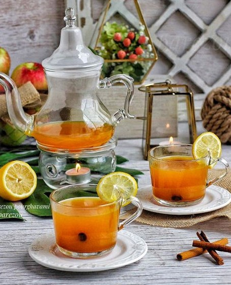 Morning detox tea for healthy body and glowing skin