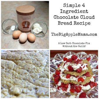 American Heritage Chocolate Cloud bread button without guilt smalll