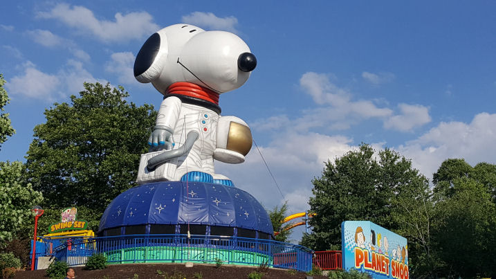 snoopy land at dorney park