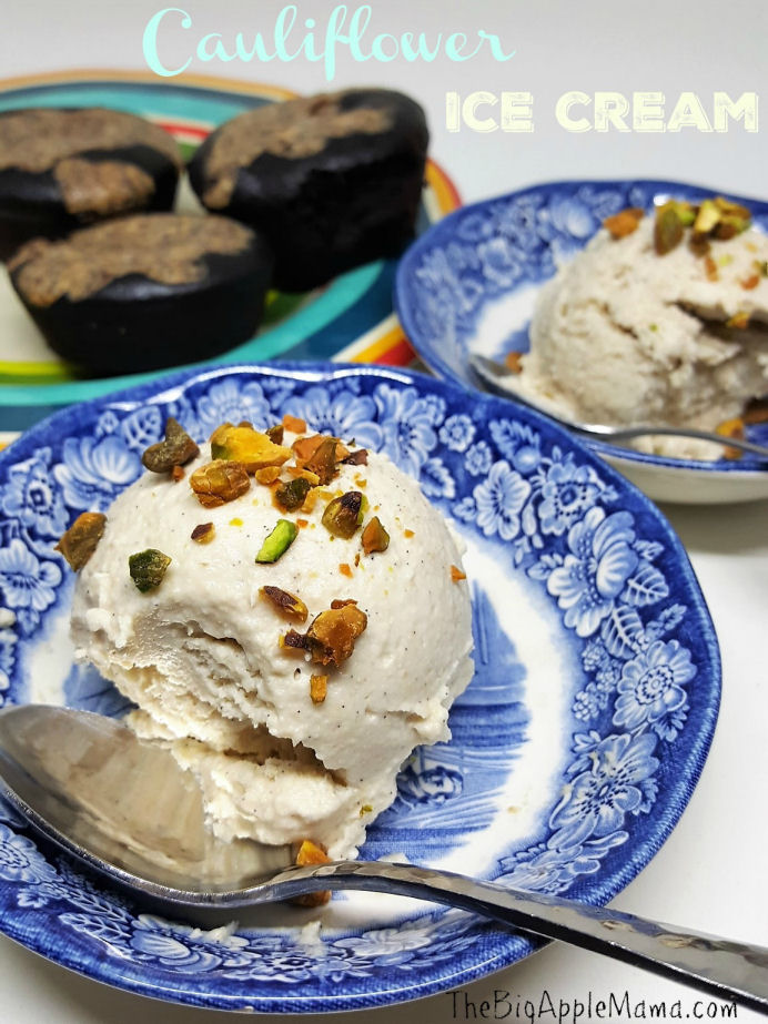 dairy free ice cream, cauliflower ice cream