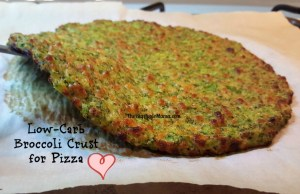 Broccoli crust for low-carb pizza
