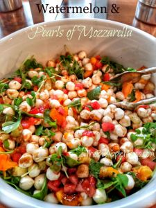 Watermelon-Mozarella-Pearls-Caprese-Salad