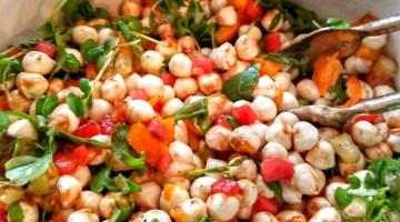Watermelon & Pearls of Mozzarella Salad