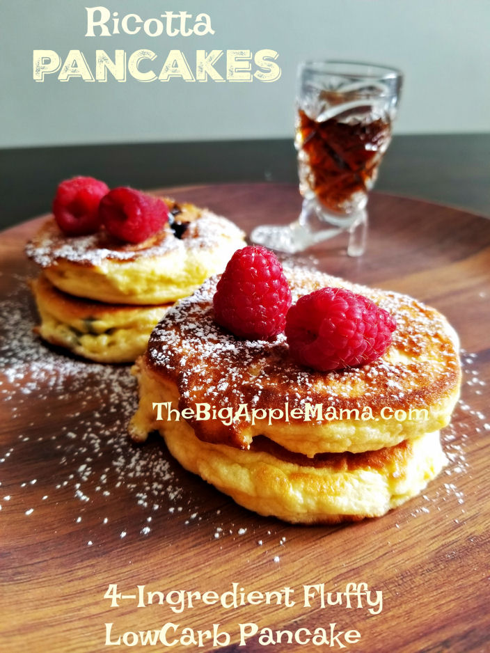 The Fluffiest Ricotta Soufflé Low Carb Pancakes - Only 4 Ingredients
