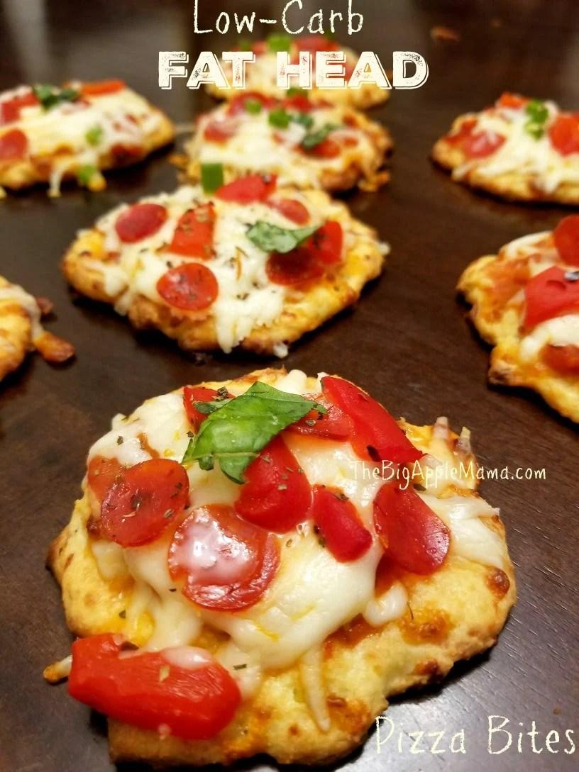Low carb crust pizza bites, Fat Head