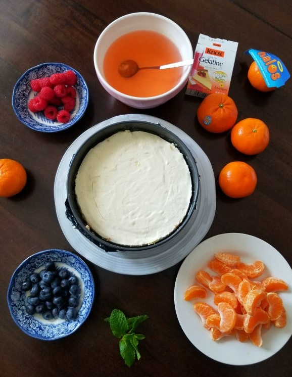 Ingredients for Clementine cheesecake