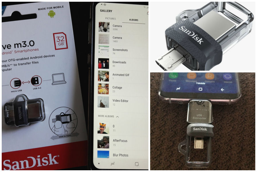 Sandisk Dual Drive flash drive for Android Smartphones