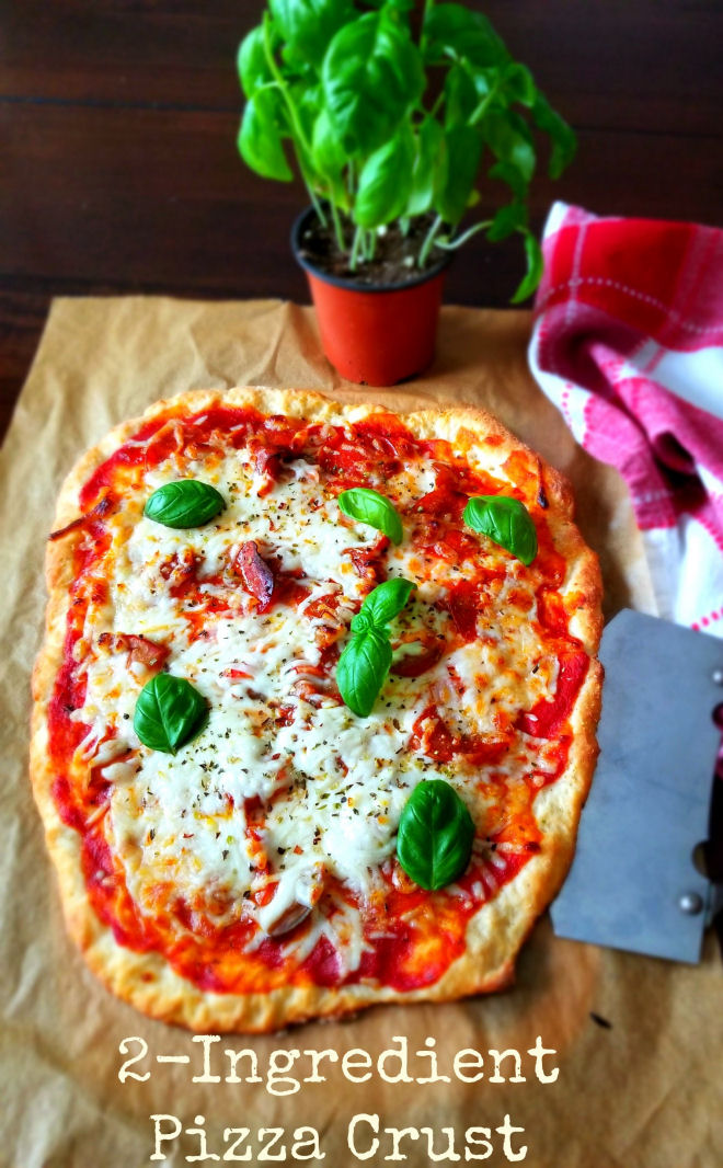 2 ingredient crispy pizza crust